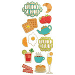 Paper House Productions - StickyPix - Faux Enamel Stickers - Brunch with Foil Accents