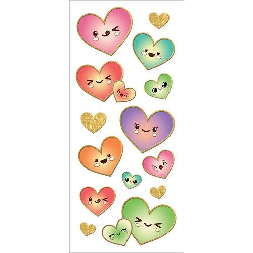 Paper House Productions - StickyPix - Faux Enamel Stickers - Kawaii Hearts