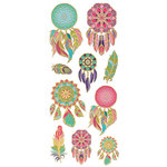 Paper House Productions - StickyPix - Faux Enamel Stickers - Dreamcatcher with Foil Accents