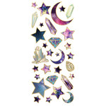 Paper House Productions - StickyPix - Faux Enamel Stickers - Stargazer with Foil Accents