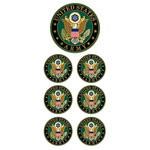 Paper House Productions - Faux Enamel Stickers - U.S. Army