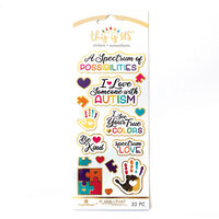 Paper House Productions - This Is Us Collection - Faux Enamel Stickers - Autism