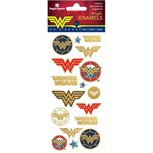 Paper House Productions - Faux Enamel Stickers - Wonder Woman - Logos