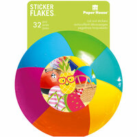 Paper House Productions - Flakes - Cardstock Stickers - Summer Fun