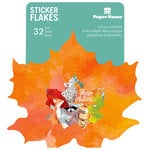 Paper House Productions - Flakes - Cardstock Stickers - Autumn Woods