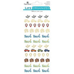 Paper House Productions - Life Organized Collection - Creative Journaling Stickers - Travel