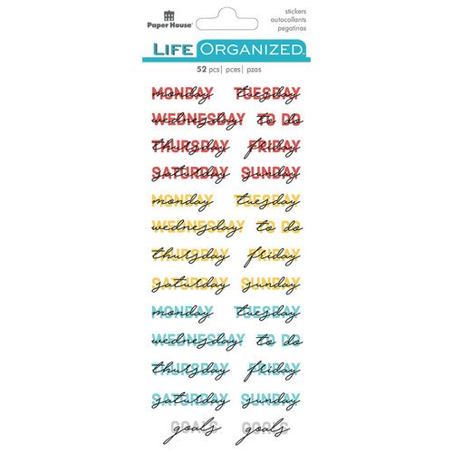 Paper House Productions - Life Organized Collection - Creative Journaling Stickers - Weekly