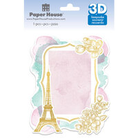 Paper House Productions - 3 Dimensional Layered Cardstock Keepsake Sticker - Paris with Foil Accents