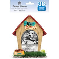 Paper House Productions - 3 Dimensional Layered Cardstock Keepsake Sticker - Dog with Glitter Accents