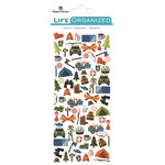 Paper House Productions - Life Organized Collection - Cardstock Stickers - Micro - Outdoors with Foil Accents