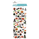 Paper House Productions - Life Organized Collection - Cardstock Stickers - Micro - Halloween with Foil Accents