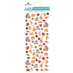 Paper House Productions - Life Organized Collection - Cardstock Stickers - Micro - Autumn Woods with Foil Accents