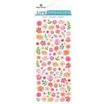 Paper House Productions - Life Organized Collection - Cardstock Stickers - Micro - Flowers with Foil Accents