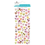 Paper House Productions - Life Organized Collection - Cardstock Stickers - Micro - Candy Hearts with Foil Accents