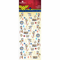 Paper House Productions - Cardstock Stickers - Micro - Wonder Woman with Foil Accents