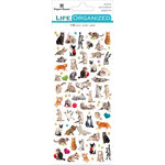 Paper House Productions - Cardstock Stickers - Micro - Cat with Foil Accents