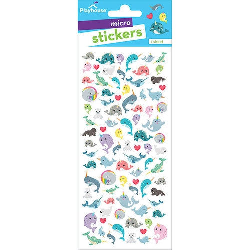Paper House Productions - Cardstock Stickers - Micro - Narwhals