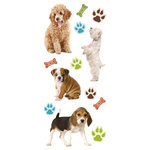 Paper House Productions - 3 Dimensional Puffy Stickers - Puppies