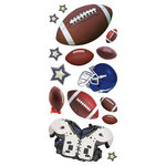 Paper House Productions - 3 Dimensional Puffy Stickers - Football