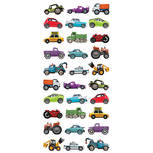 Paper House Productions - Puffy Stickers - Mini Mixed Cars