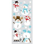 Paper House Productions - Christmas - Sculpted - Puffy Stickers - Snowman