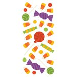 Paper House Productions - Sculpted - Puffy Stickers - Halloween Candy