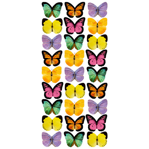 Paper House Productions - Puffy Stickers - Mini Mixed Butterflies