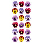 Paper House Productions - Puffy Stickers - Pansies