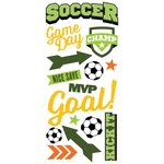 Paper House Productions - All Star Collection - Soccer - Puffy Stickers - Champ