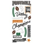 Paper House Productions - All Star Collection - Football - Puffy Stickers - Play Hard