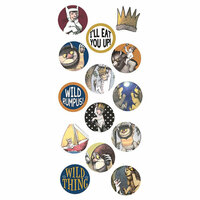 Paper House Productions - Where the Wild Things Are Collection - Puffy Stickers - Wild One