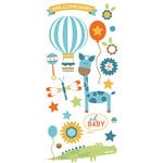 Paper House Productions - Hello Baby Boy Collection - Puffy Stickers