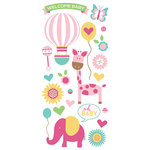 Paper House Productions - Hello Baby Girl Collection - Puffy Stickers