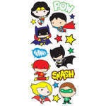 Paper House Productions - StickyPix - Puffy Stickers - Justice League - Chibi Heroes