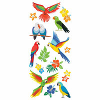 Paper House Productions - StickyPix - Puffy Stickers - Tropical Birds