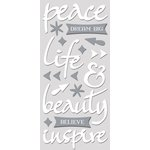 Paper House Productions - Sculpted - Puffy Stickers - Peace