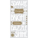 Paper House Productions - Sculpted - Puffy Stickers - Sparkle