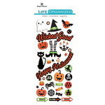 Paper House Productions - Life Organized Collection - Puffy Stickers - Halloween with Foil Accents