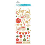 Paper House Productions - Life Organized Collection - Puffy Stickers - Christmas with Foil Accents