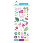 Paper House Productions - Life Organized Collection - Puffy Stickers - Embrace Today with Foil Accents