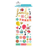 Paper House Productions - Life Organized Collection - Puffy Stickers - Everyday Moments with Foil Accents