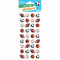 Paper House Productions - Soft Puffy Stickers - Mini Mixed Sports Balls
