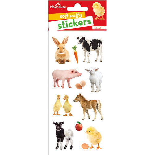 Paper House Productions - Puffy Stickers - Baby Barnyard Animals