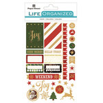 Paper House Productions - Life Organized Collection - Cardstock Stickers - Labels - Christmas