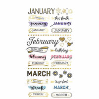 Paper House Productions - Life Organized Collection - Planner Stickers - Monthly with Foil Accents