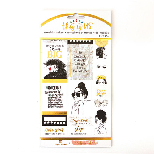 Paper House Productions - This Is Us Collection - Weekly Planner Kits - Stickers - Indy and Ivy