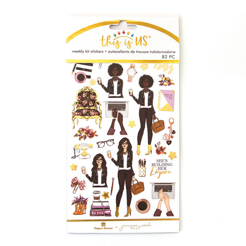 Paper House Productions - This Is Us Collection - Weekly Planner Kits - Stickers - Girl Boss