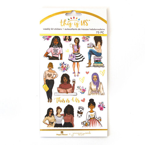 Paper House Productions - This Is Us Collection - Weekly Planner Kits - Stickers - Be You Tiful