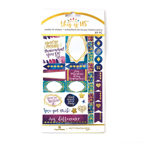 Paper House Productions - This Is Us Collection - Weekly Planner Kits - Stickers - Empowerment