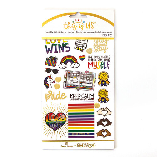 Paper House Productions - This Is Us Collection - Weekly Planner Kits - Stickers - Pride